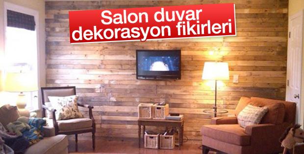 Oturma odalarında duvar dekorasyonu