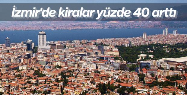 İzmir'de kiralar yükseldi