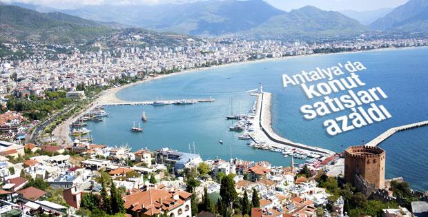 Antalya'da konut satışları yüzde 7 azaldı