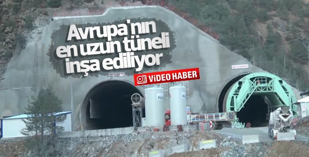 Yeni Zigana Tüneli Projesi'nde çalışmalar sürüyor