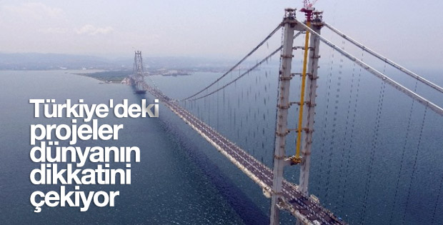Türkiye'de gerçekleştirilen projeler dikkat çekiyor