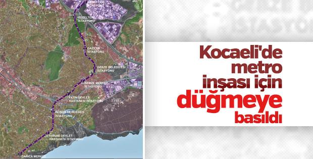 Kocaeli'de metro inşası için düğmeye basıldı