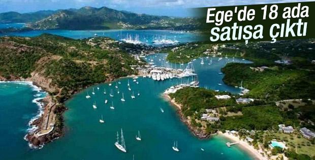 Ege'de 18 ada satışa çıktı