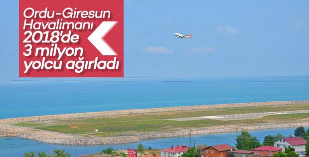 Ordu-Giresun Havalimanı yolcu sayısı 3 milyonu aştı