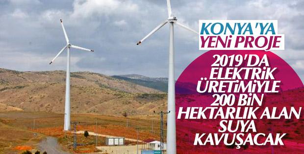 Rüzgar enerjisiyle 200 bin dekar alan sulanacak