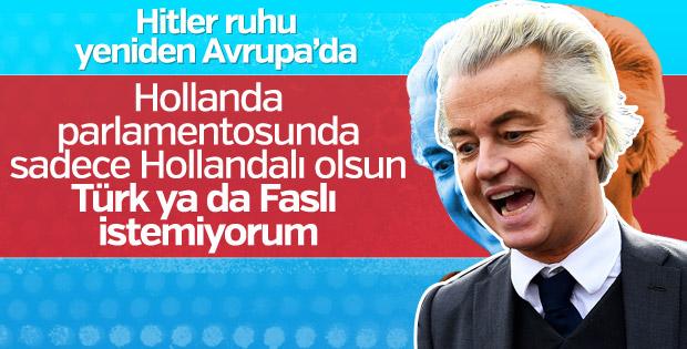 Irkçı Wilders parlamentoda Türk istemiyor