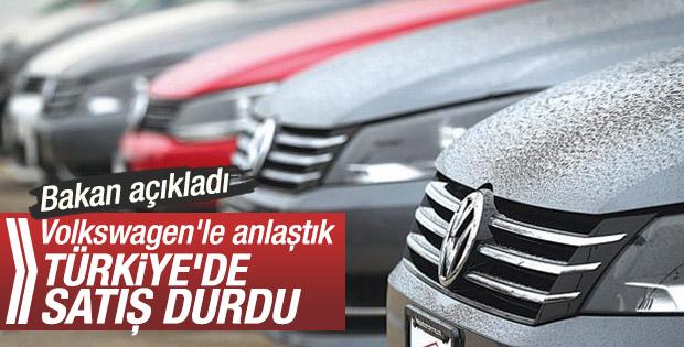 Volkswagen'in sorunlu dizel araçlarının satışı durduruldu