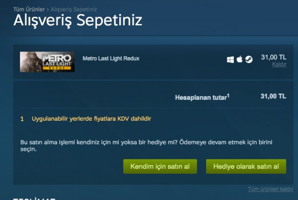 Steam'e KDV geldi