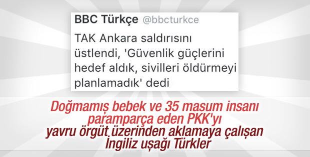 BBC PKK'yı TAK üzerinden aklamaya çalıştı