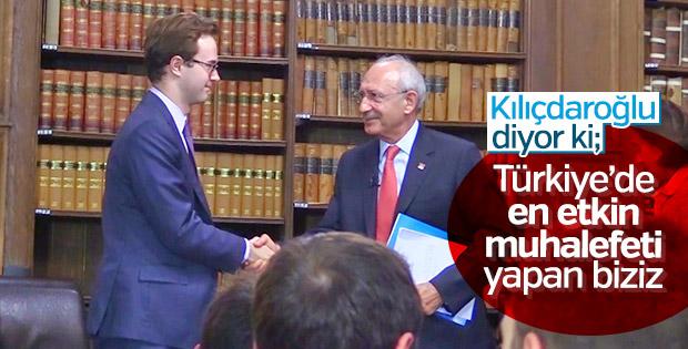 Kemal Kılıçdaroğlu yaptıkları muhalefetten memnun