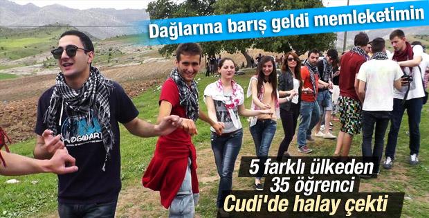 Yabancı öğrenciler Cudi Dağı eteklerinde barışı kutladılar İZLE