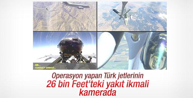 Türk F-16'larının 26 bin Feet'teki yakıt ikmali