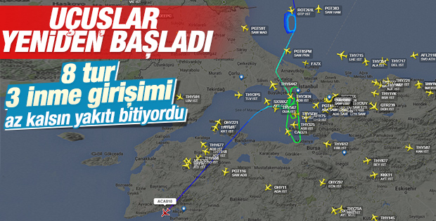 İstanbul'un hava trafiğinde aksama