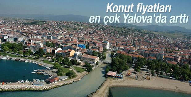 Konut fiyatları Yalova'da, kiralar ise Uşak'ta arttı