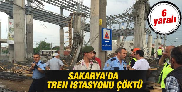 Sakarya Arifiye'de istasyon çöktü