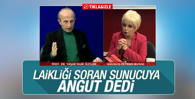 Yaşar Nuri canlı yayında Gülgün Feyman'a hakaret etti