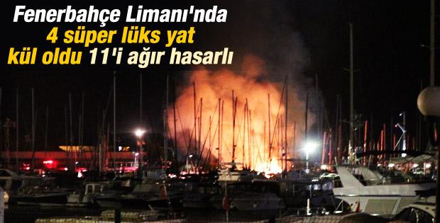 Kadıköy Yat Limanı'nda yangın