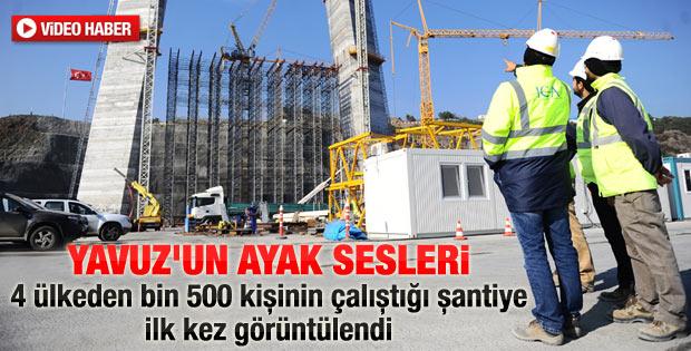 İstanbul'un 3. köprüsü için neredeyse bir ordu çalışıyor - izle