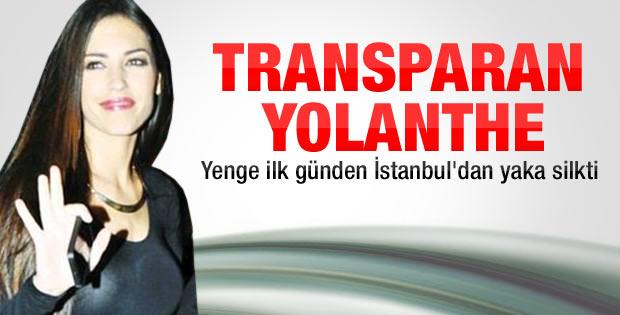Sneijder'in eşi Yolanthe İstanbul trafiğinden rahatsız