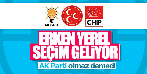 AK Parti'den erken yerel seçime yeşil ışık
