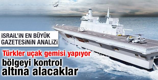 Yerli uçak gemisi için düğmeye basıldı İsrail panikte