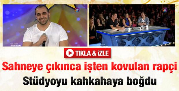 Rapçi Mehmet Yıldız stüdyoyu kahkahaya boğdu