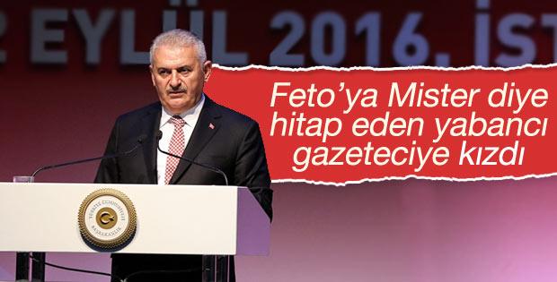 Başbakan'dan Hint gazeteciye 'Mister Gülen' azarı