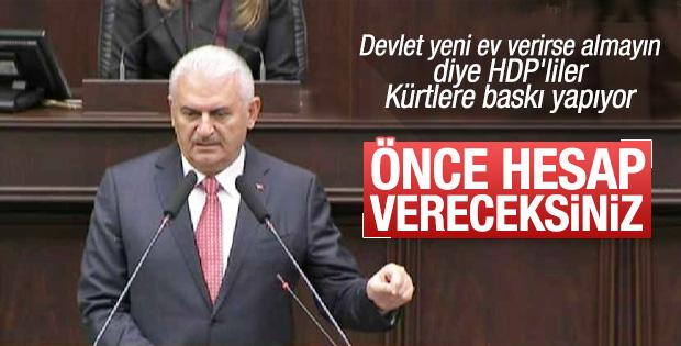 Başbakan Binali Yıldırım'dan HDP'lilere sert çıkış