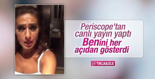 Yıldız Tilbe Periscope'tan canlı yayın yaptı