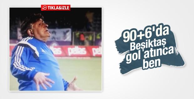Beşiktaş'ın son dakika golüne Yılmaz Vural'ın tepkisi