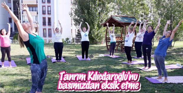 CHP'li belediye yoga dersleri vermeye başladı