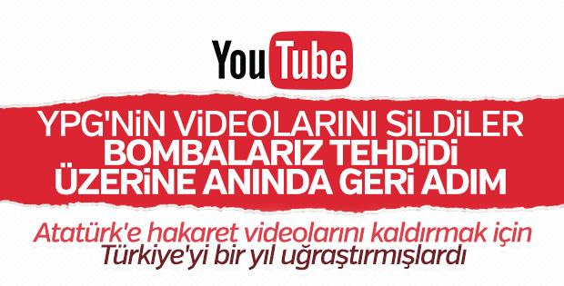 YouTube, terör örgütü PKK/YPG'ye boyun eğdi