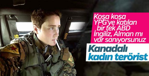 YPG'ye katılan Kanadalı kadın terörist