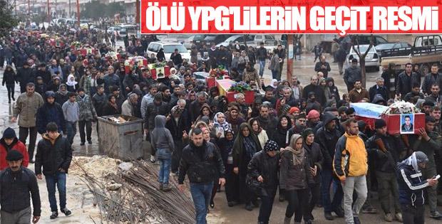 YPG'lilerin cesetleri gömülmeye götürüldü