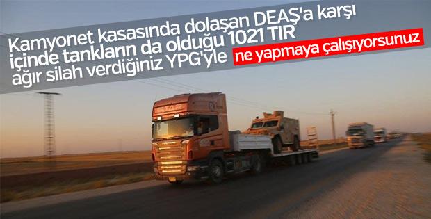ABD'den yine terör örgütü PKK/PYD'ye askeri yardım