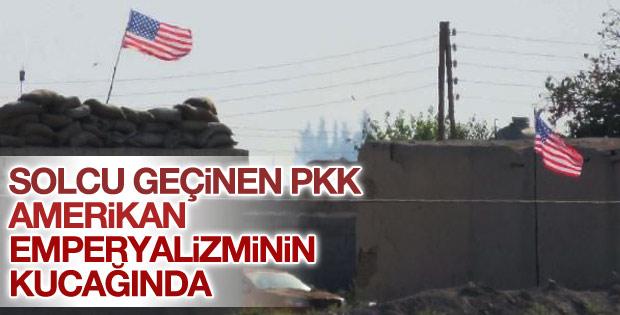 Tel Abyad'da YPG Amerikan bayrağı açıyor