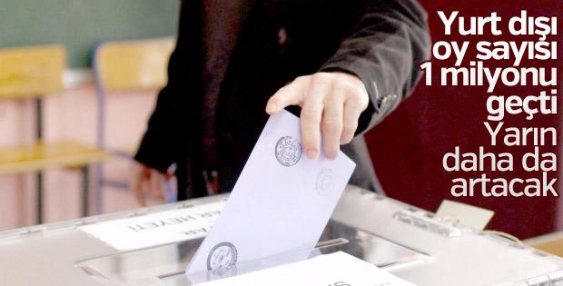 Yurt dışında 1 milyon 227 bin oy kullanıldı