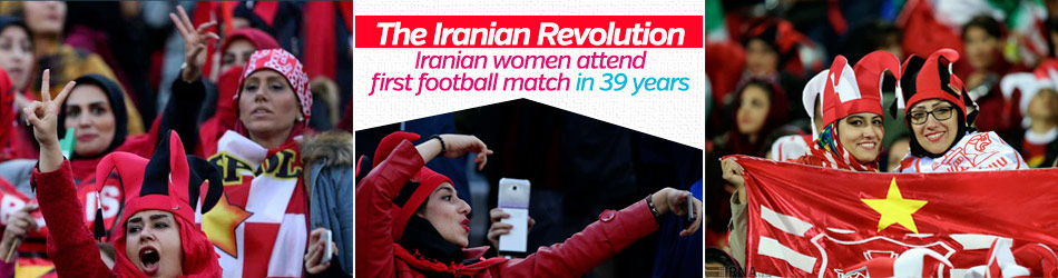 Iranian women attend first football match in 39 years