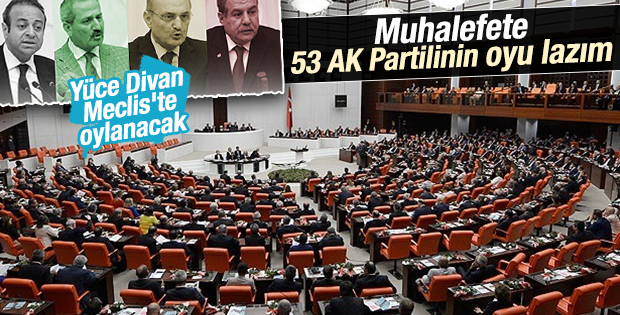 Meclis'te 4 eski bakan için Yüce Divan oylaması