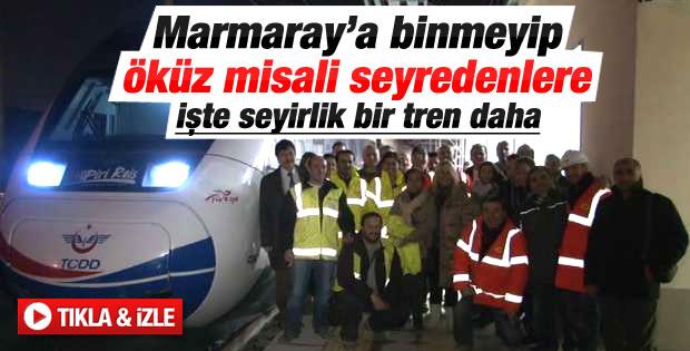 Yüksek Hızlı Tren ilk yolcuları ile İstanbul'a ulaştı İZLE