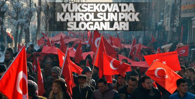 Yüksekova'da teröre lanet yürüyüşü