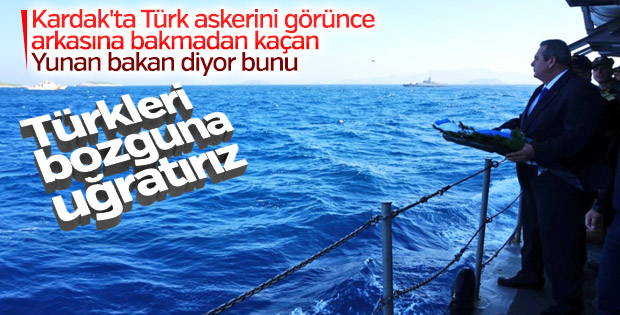 Türk askerinden kaçan Yunan bakandan küstah sözler