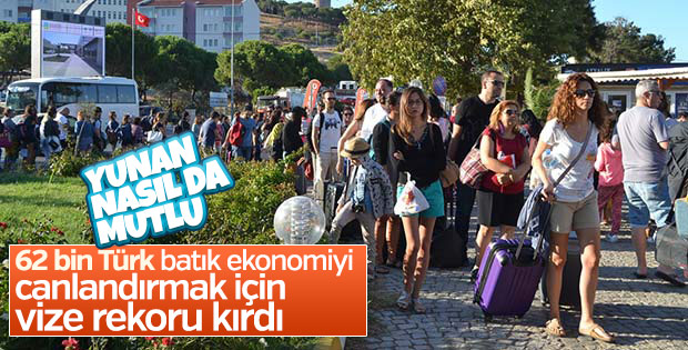 İzmir'den Yunanistan'a geçişlerde rekor kırıldı