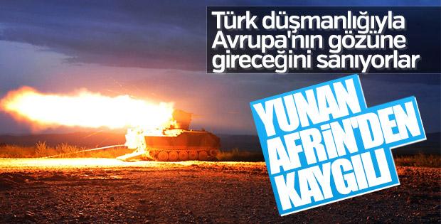 Yunanistan Zeytin Dalı Harekatı'ndan kaygılı