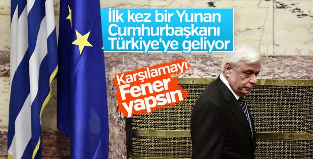 İlk kez bir Yunanistan Cumhurbaşkanı Türkiye'de