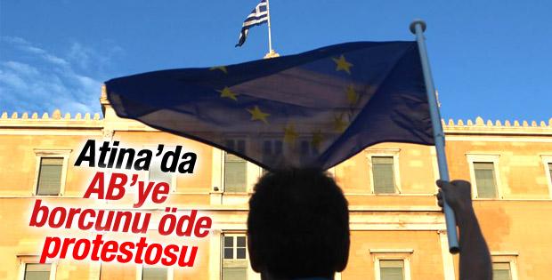 Yunanistan'da Avrupa Birliği yanlısı gösteri
