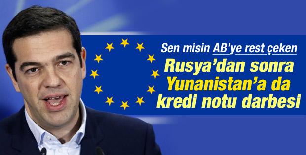 Standard & Poor's Yunanistan'ın kredi notunu düşürdü