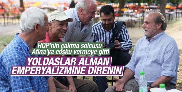 HDP'li Kürkçü Atina'da SYRİZA'nın başarısını konuştu