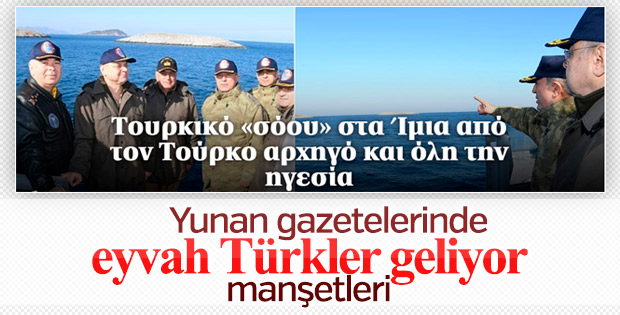 Yunan basınında 'Kardak' paniği