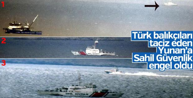 Türk balıkçıları taciz eden Yunan botu engellendi